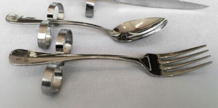 Adaptive Silverware Set including Steak Knife